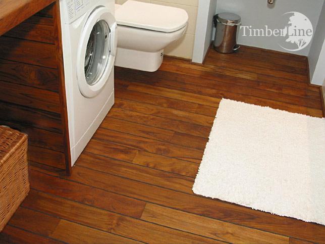 Podłogi łazienkowe Drewniana Podłoga Do łazienki