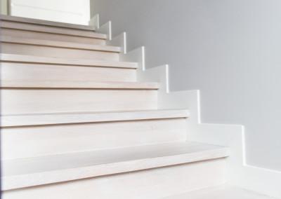 schody dąb bielony